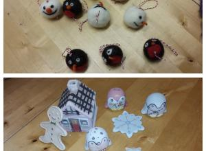 Christmas decorations made by the Helping Hands Group