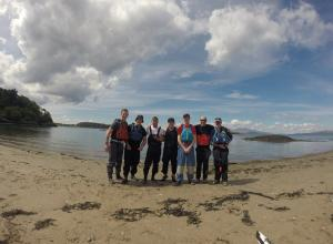 Mike with some of the lads from the Oban Kayak residential
