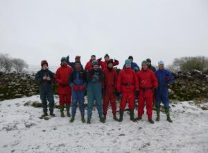 the Club 1 lads just before caving